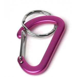 key carabiner pink