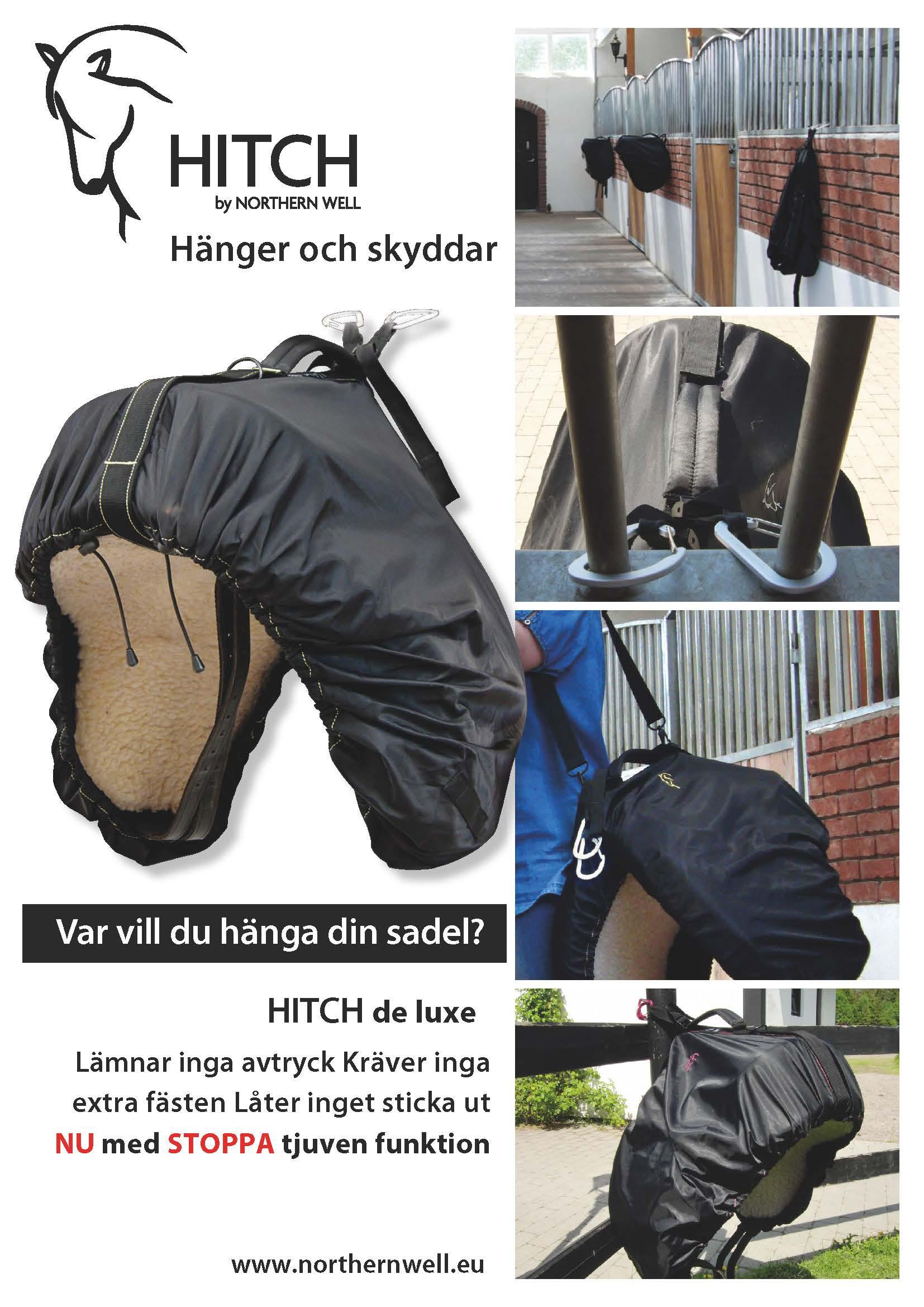 Var vill du hänga din sadel? HITCH sadelbag hänger och skyddar